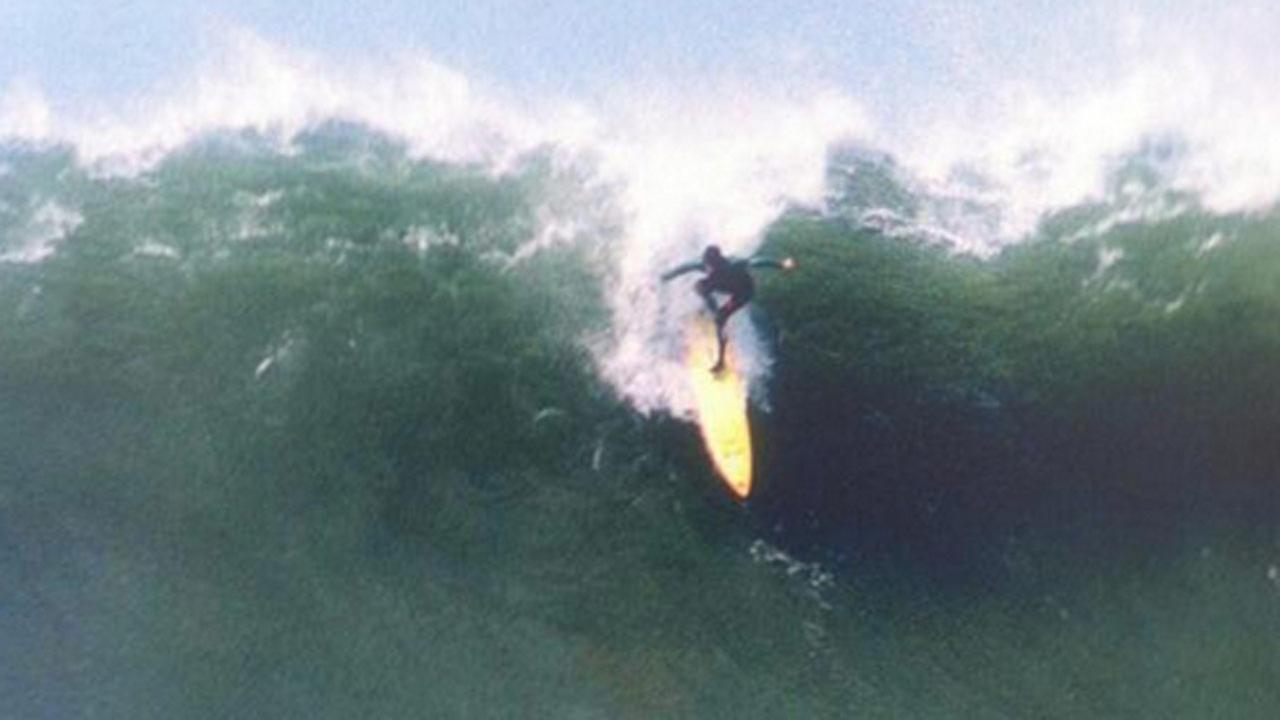 Surfer at Mavericks