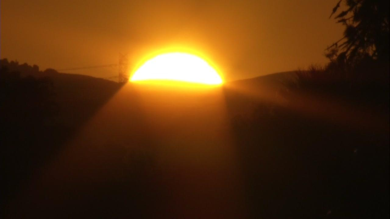 This is an undated image of the sun going down.