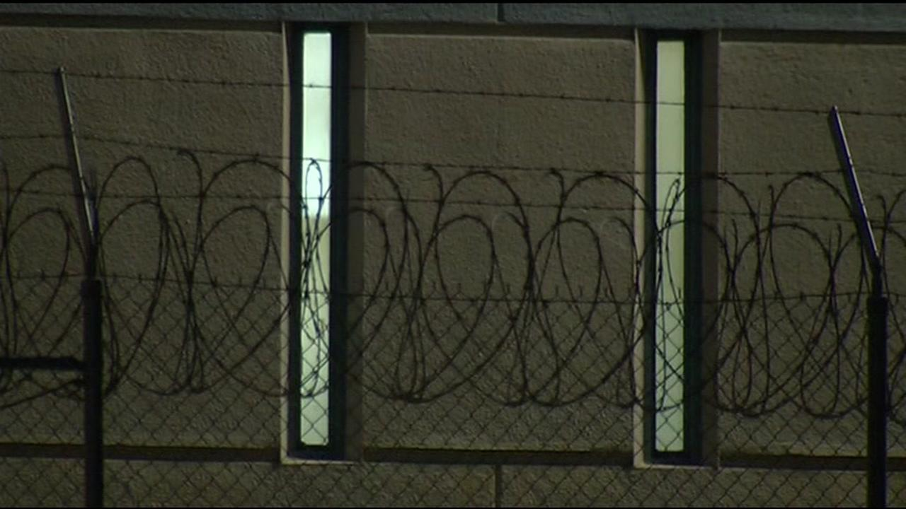 Barbed wire appears outside the Santa Rita Jail in Dublin, Calif. in this undated image.