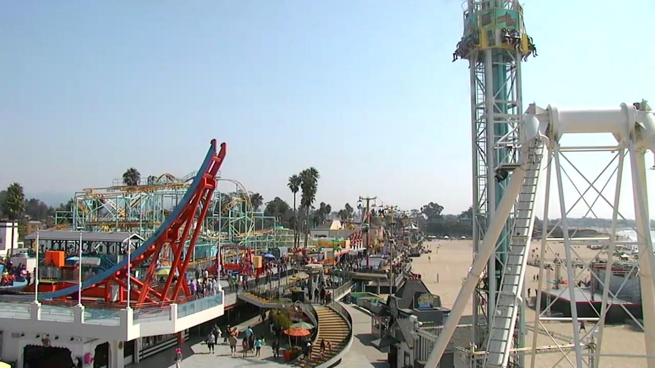 This is an image of the boardwalk at the beach in Santa Cruz, Calif. on Saturday, September 2, 2017.KGO-TV