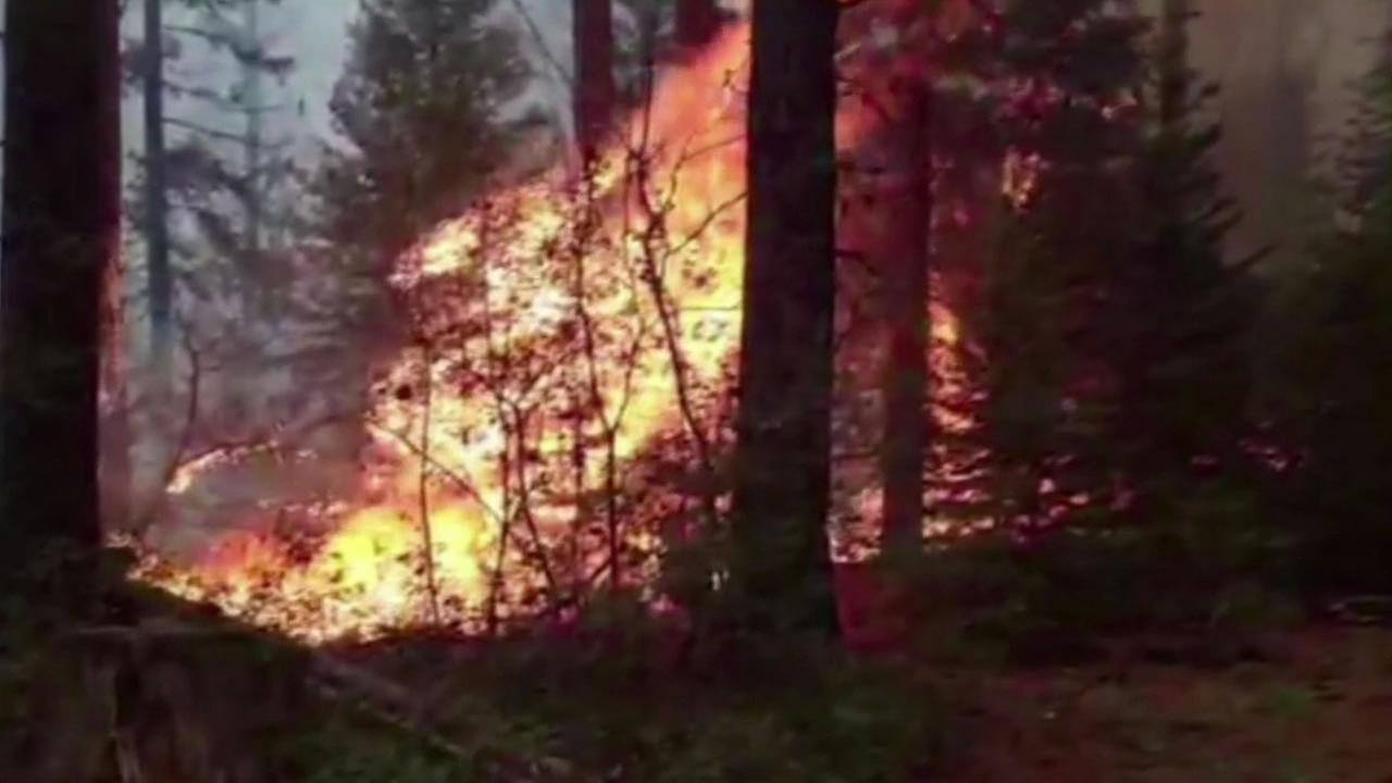 One of more than 40 lightning sparked fires in Northern California.