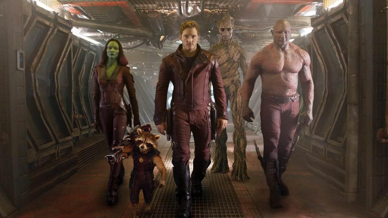 This image released by Disney - Marvel shows characters in a scene from Guardians of the Galaxy. (AP Photo/Disney - Marvel)