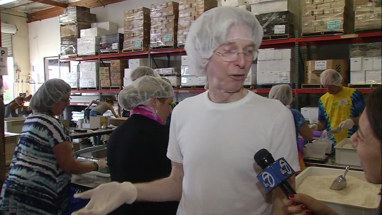 Grateful Dead legend Phil Lesh volunteers at the San Francisco Marin Food Bank on Friday, Sept. 8. 2017.