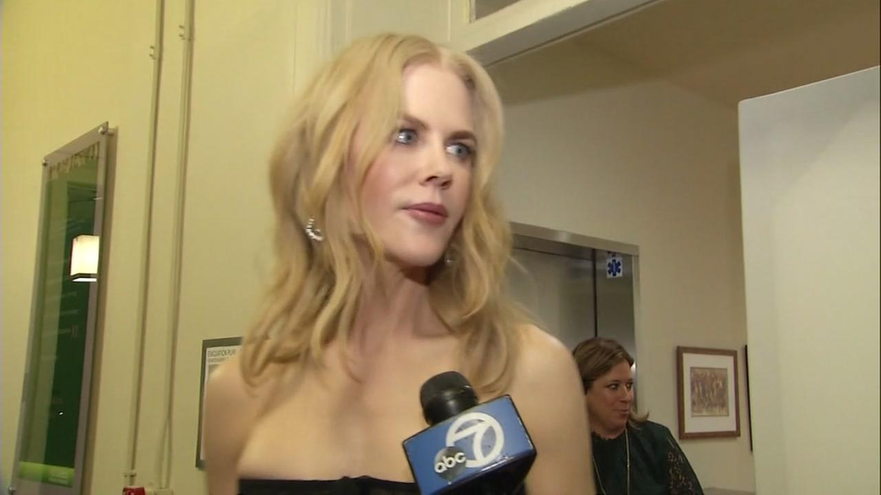 Nicole Kidman is interviewed by ABC7 News on Tuesday, Sept. 19, 2017.