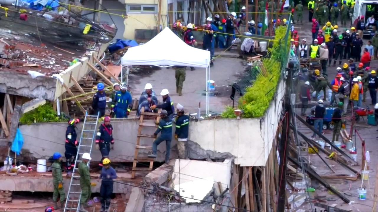 Mexican Navy: No missing children at collapsed Mexico City school