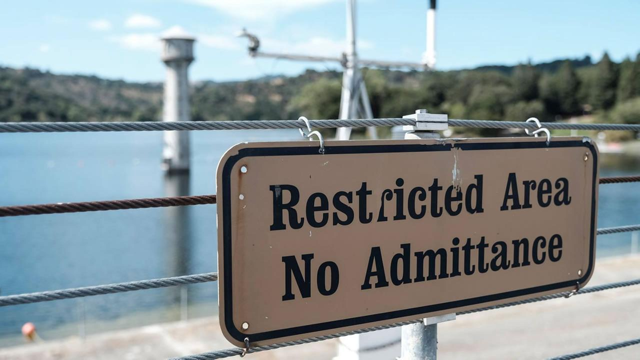 A sign appears near the Lafayette Reservoir in Lafayette, Calif. on Thursday, Sept. 21, 2017.
