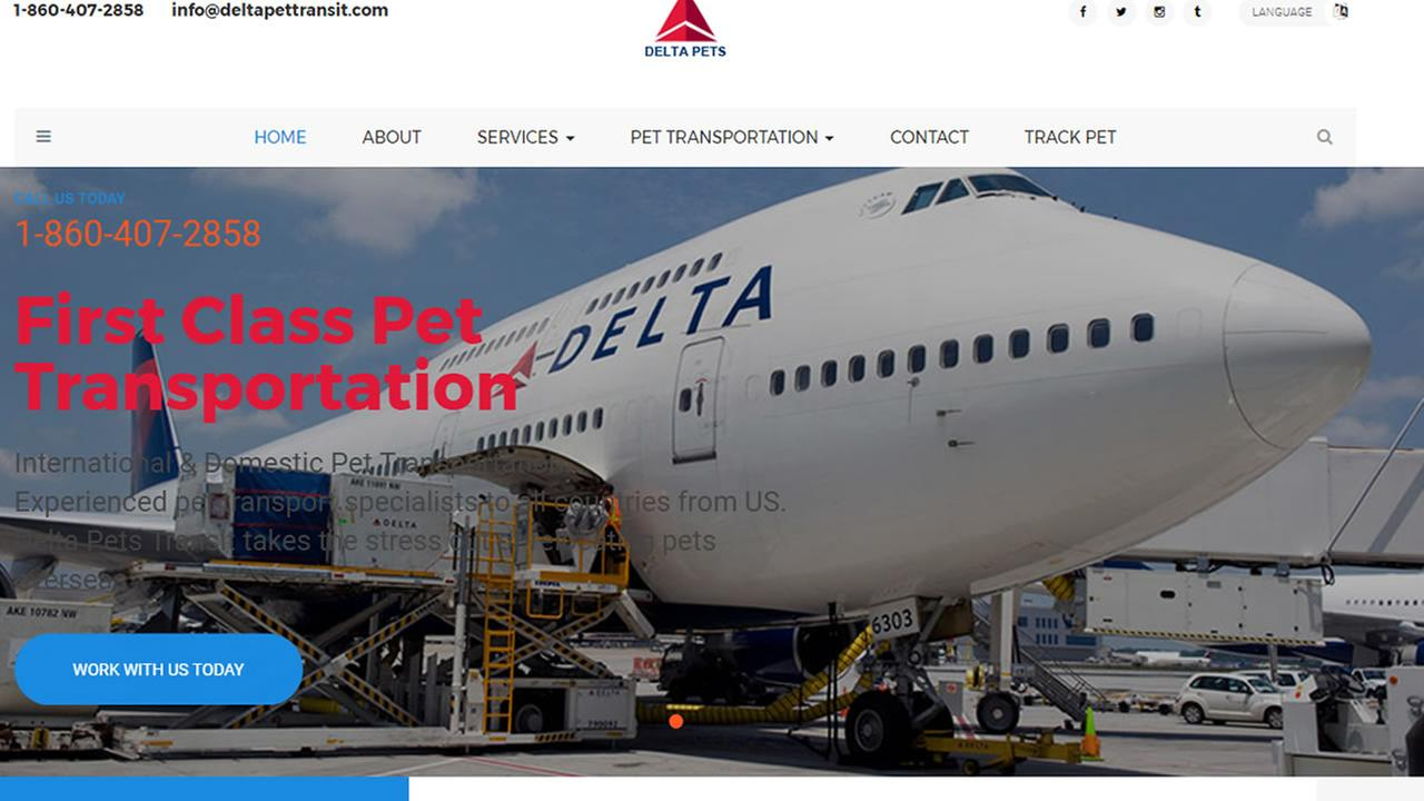 Delta: Website tricks people who put their pets on jets