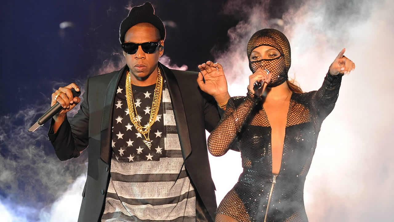 Beyonce and Jay Z perform on the opening night of the On The Run Tour at Sun Life Stadium on June 25, 2014, in Miami. (Photo by Jeff Daly/Invision for Parkwood Entertainment/AP Images)