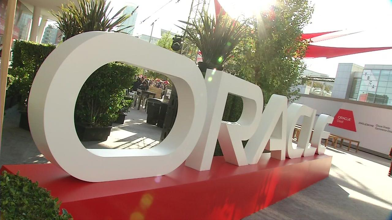 This is an undated image from Oracle OpenWorld in San Francisco.