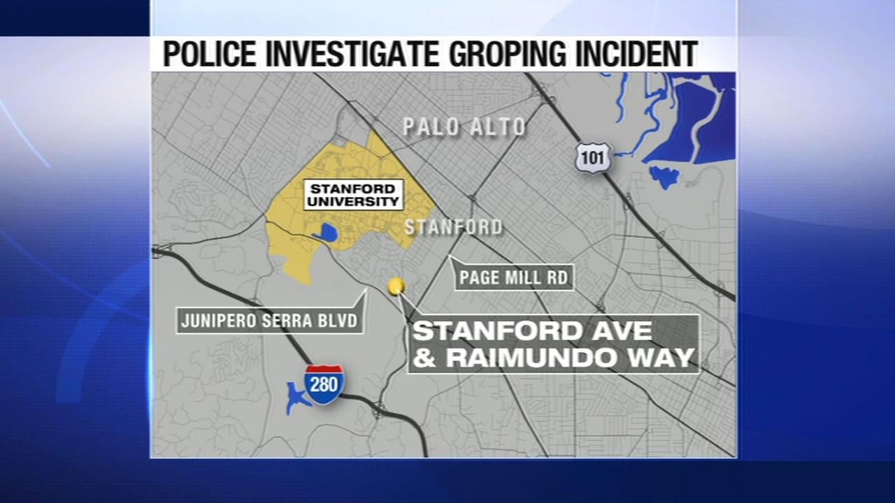 The location of a reported groping in Palo Alto.