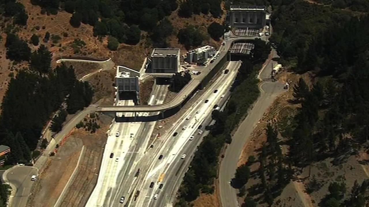 The Caldecott Tunnels far-left eastbound bore will be closed over the next two weekends for realignment work.