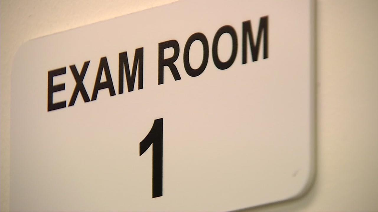 This is an undated image of a medical exam room.