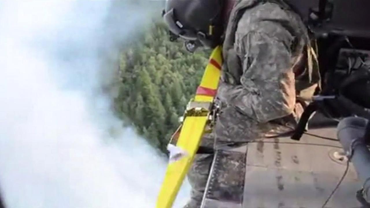 Lodge fire in Mendocino County