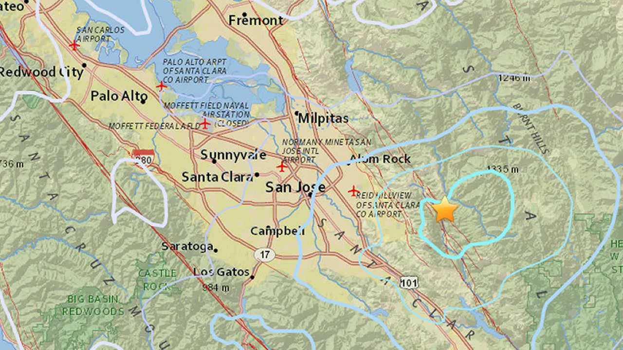 A 4.4 magnitude earthquake was reported in San Jose, Calif. on Monday, Oct. 9, 2017.