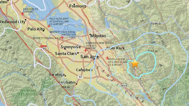 a 4 4 magnitude earthquake was reported in san jose calif on monday oct