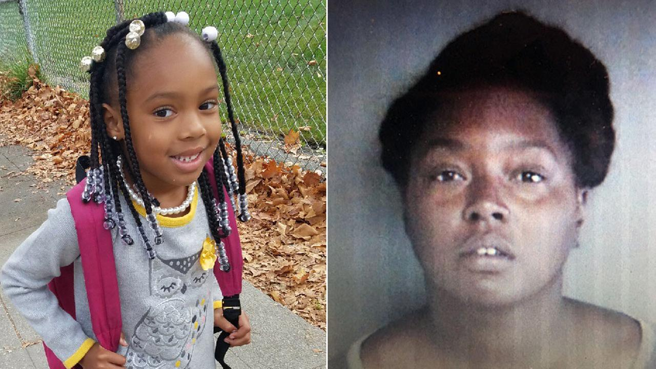 Missing 6-year-old child Malayia Davis-Booker (left) and suspect Laquita Davis (right)
