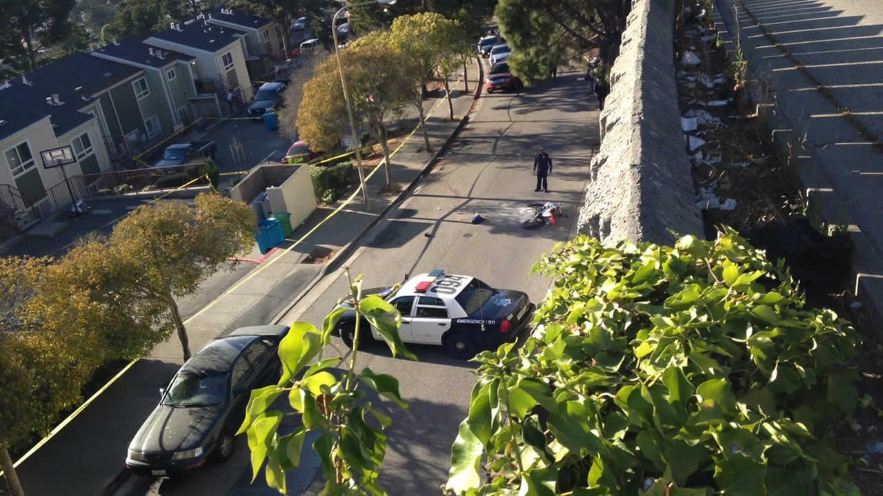 San Francisco Bayview shooting crime scene on La Salle Ave