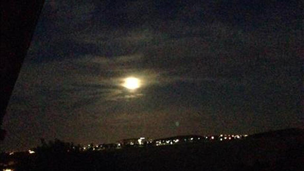 Supermoon as seen on August 10, 2014 from Antioch. Photo submitted via uReport.