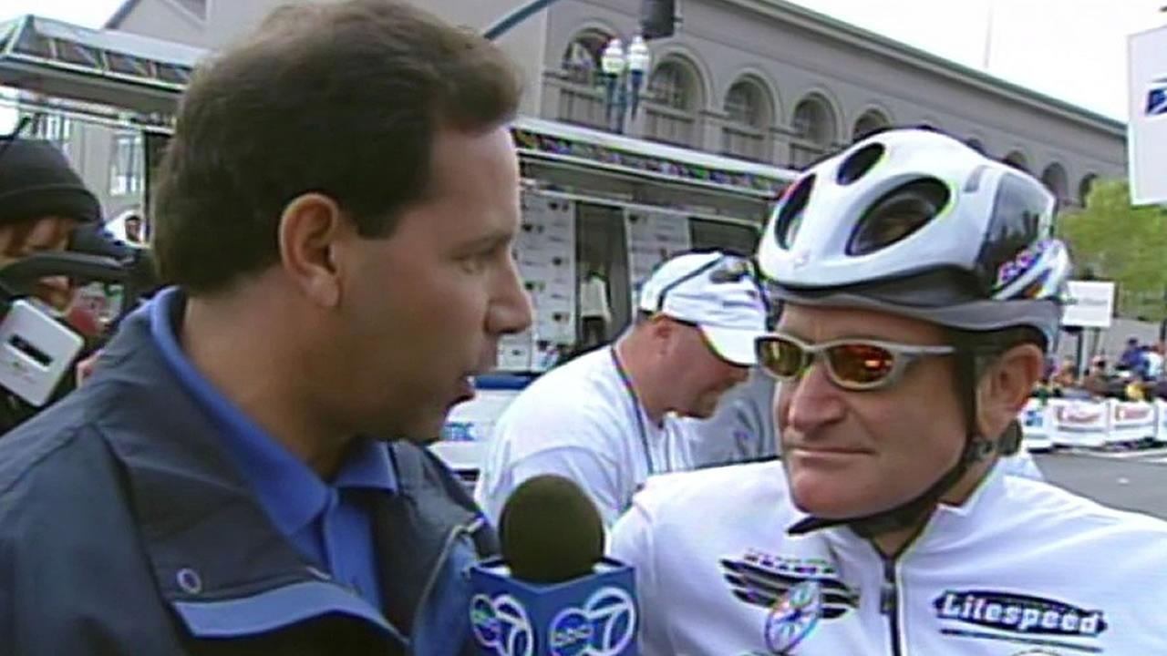 Larry Beil, Robin Williams at San Francisco Grand Prix in 2002