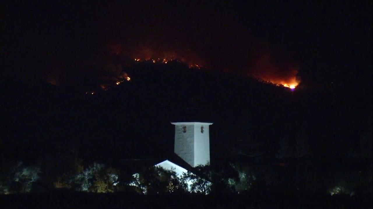 Nuns Fire threatens Robert Mondavi Winery in Oakville, California, Monday, October 16, 2017.