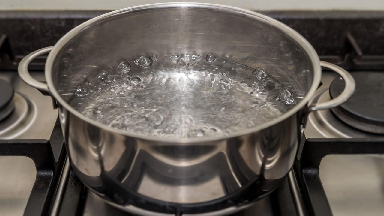 This undated file photo shows a pot of boiling water.