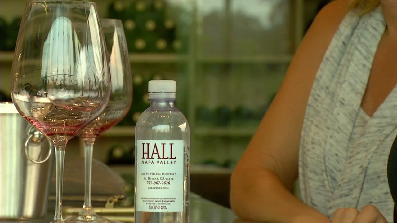 The Hall Winery in Napa Valley is open for business Monday, Oct. 16, 2017 as firefighters battle wildfires in the North Bay.