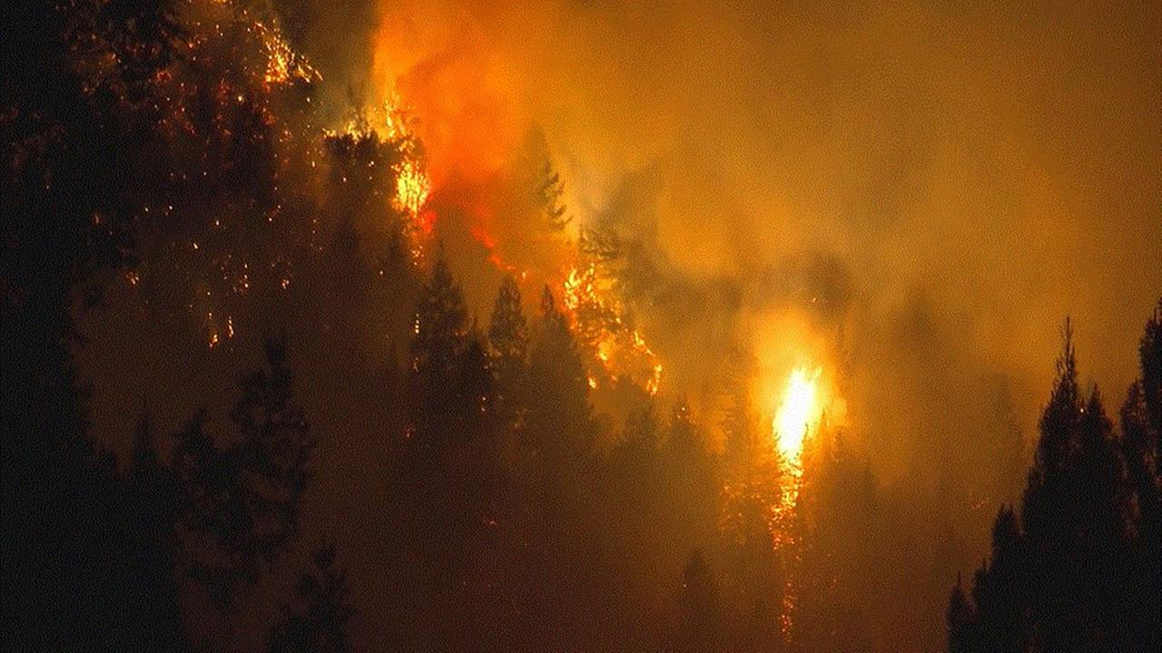 Fire in Santa Cruz Mountains forces evacuations