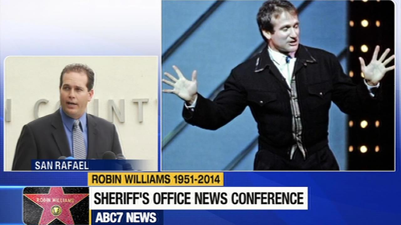 Marin County Sheriffs Office holds news conference on death of Robin Williams.