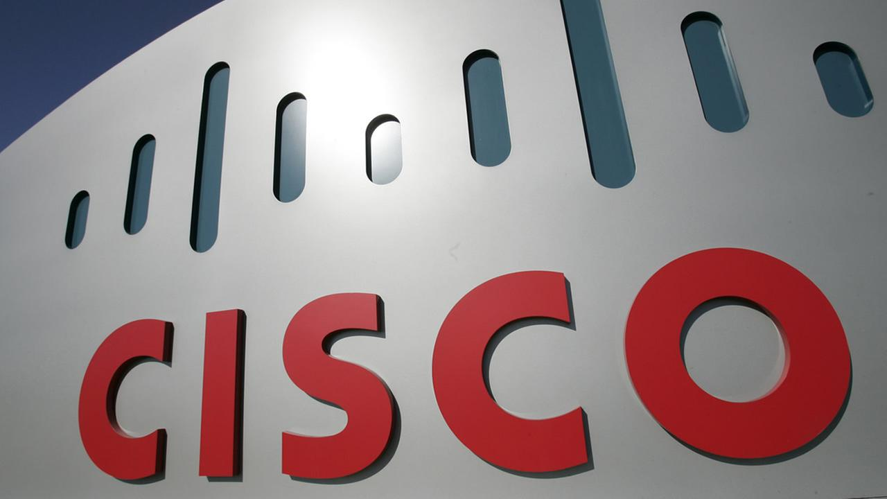 This Feb. 3, 2009 file photo, shows the Cisco Systems logo at Cisco Systems headquarters in San Jose, Calif. (AP Photo/Paul Sakuma, File)