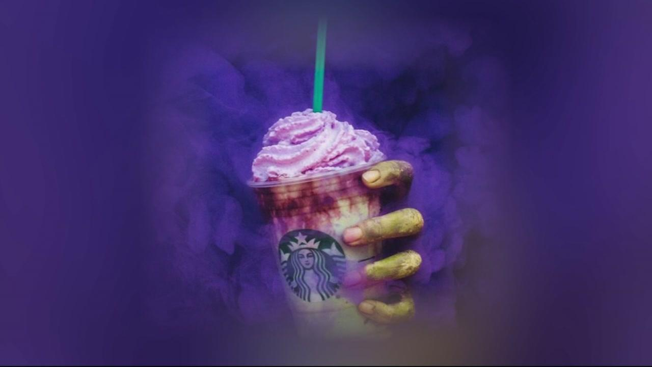 This Starbucks promotional photo shows a Zombie Frappuccino.
