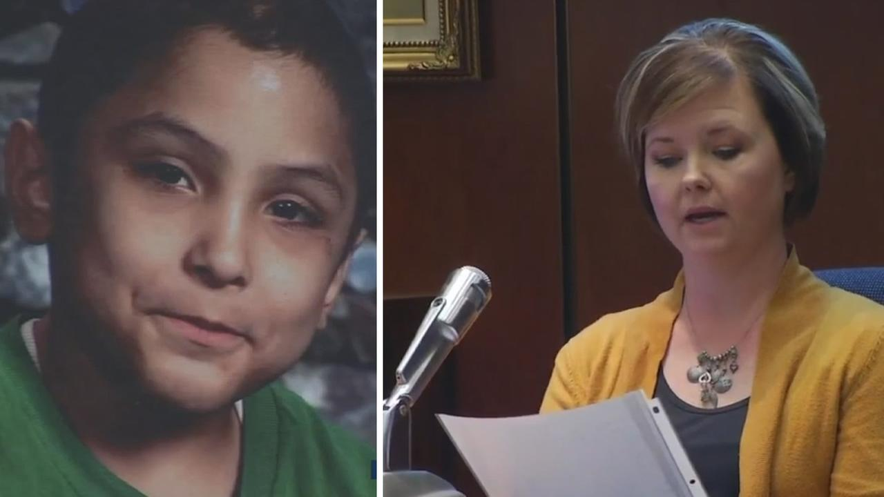These undated images show Gabriel Fernandez and teacher Jennifer Garcia.