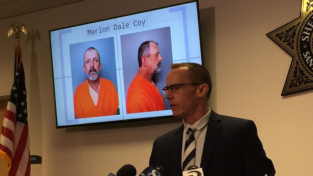 On Friday, Oct. 27, 2017 officials in Santa Cruz, Calif. announced 54-year-old Marlon Dale Coy was arrested in connection with the Bear Fire.