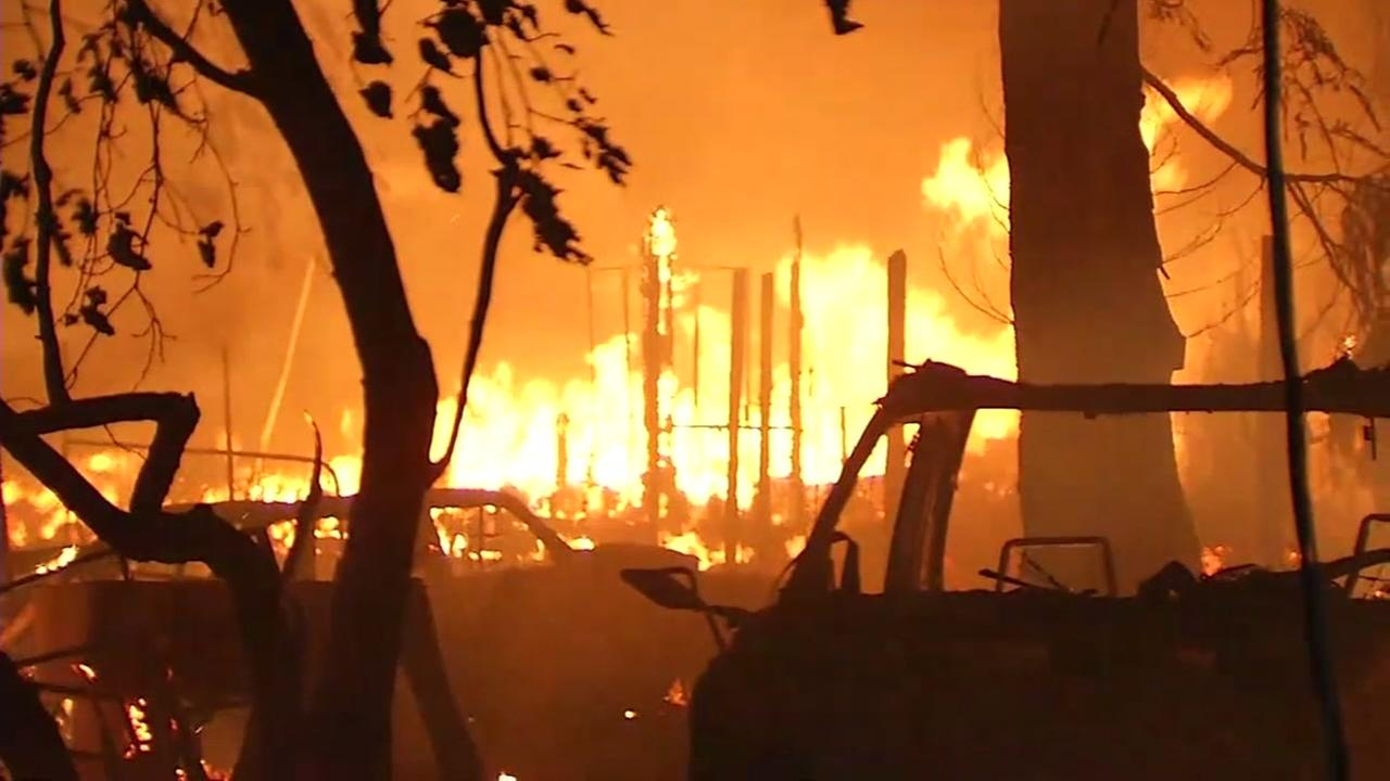 Fire ravages the North Bay in this image from Oct. 2017.