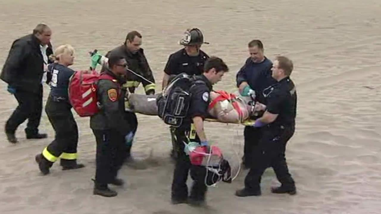 Man rescued off Ocean Beach