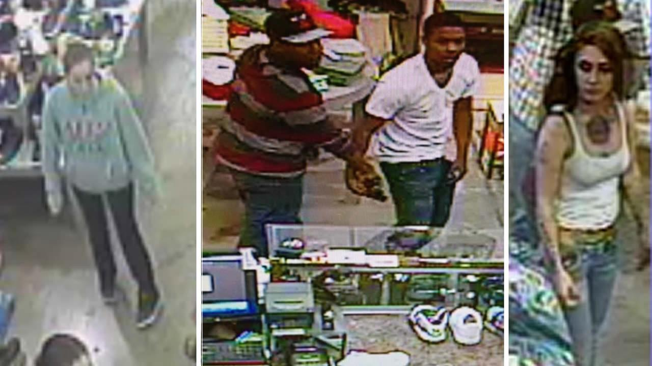 Police have released surveillance video images of suspects in shooting outside San Leandros Bayfair Center mall.