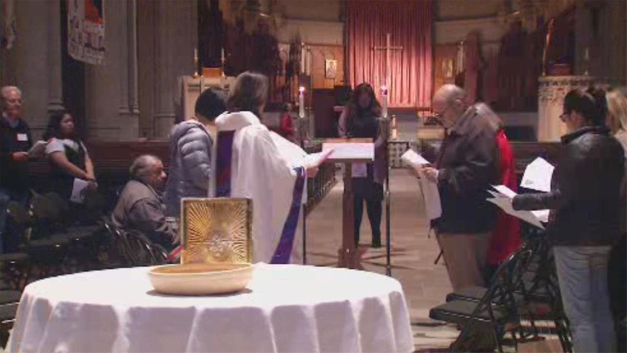 Mass at Grace Cathedral in San Francisco, Monday, November 6, 2017.