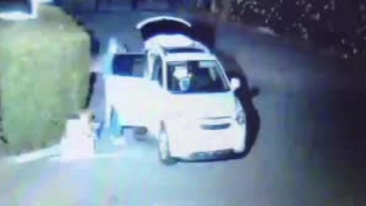 The Marin Humane Society released a surveillance photo of the small SUV that was used to drop-off cats at the Novato facility.