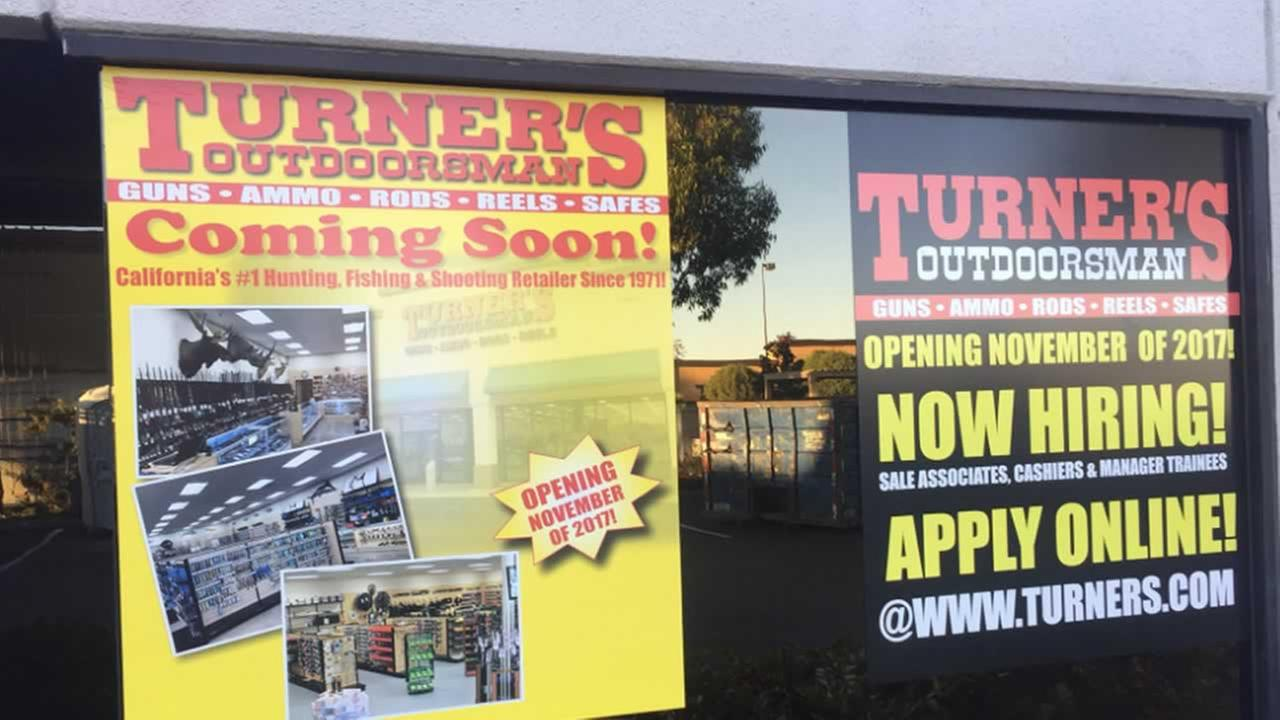 This is an image of a gun store that may open in San Carlos, Calif. on Sunday, Nov. 12, 2017.