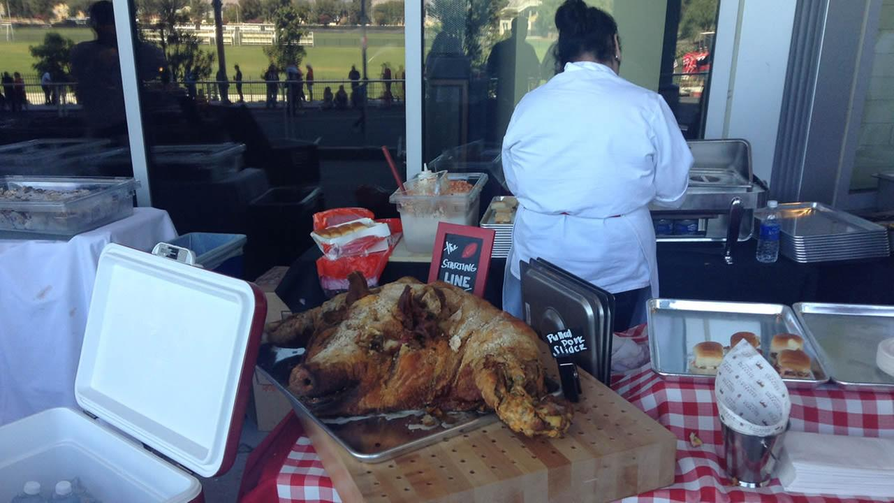 Food at Levis Stadium for 49ers preseason game