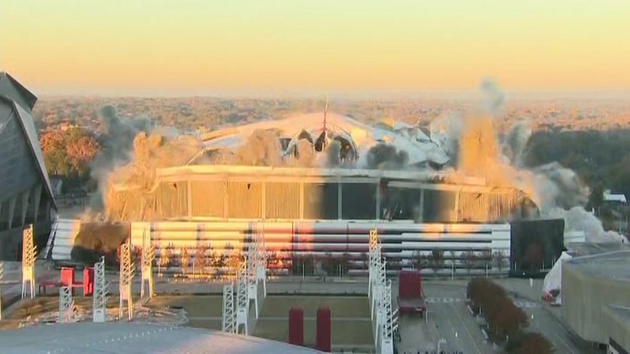 Implosion of Georgia Dome, Atlanta, Georgia, Monday, November 20, 2017.