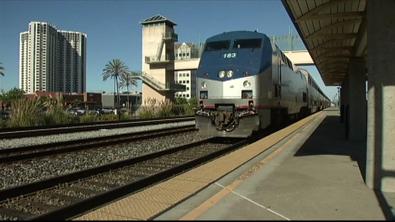 An Amtrak train is seen in this undated image.