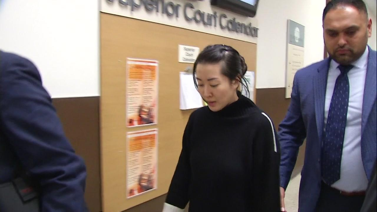 Hillsborough murder suspect Tiffany Li appears in a San Mateo County courthouse on Tuesday, Nov. 21, 2017.