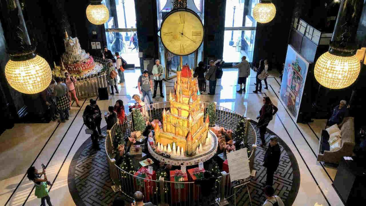 A sugar castle is seen in the Westin St. Francis in San Francisco on Wednesday, November 22, 2017.