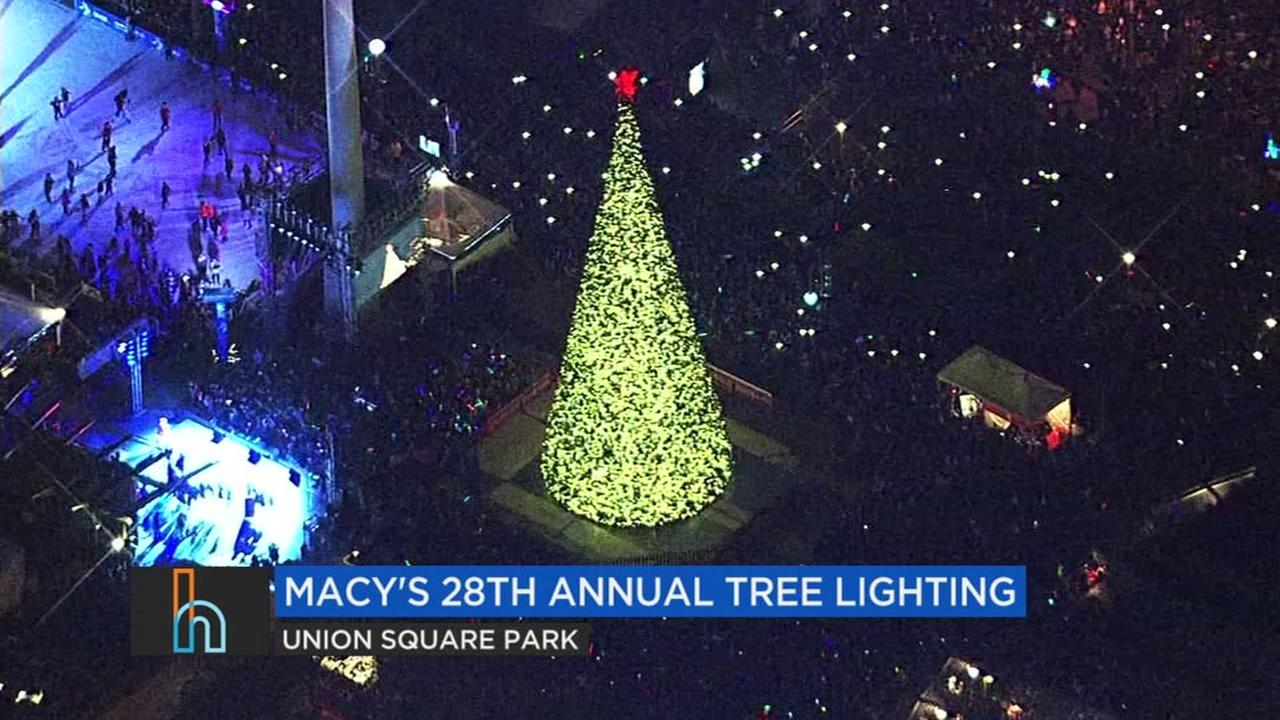 FILE -- Macys tree lighting in San Francisco, California
