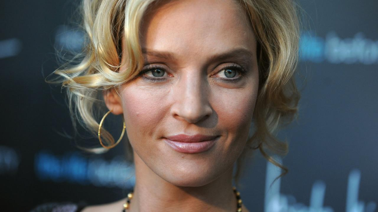 ** FILE ** In this April 15, 2008 file photo, actress Uma Thurman arrives at the Cinema Society screening of The Life Before Her Eyes , in New York. (AP Photo/Peter Kramer, file)