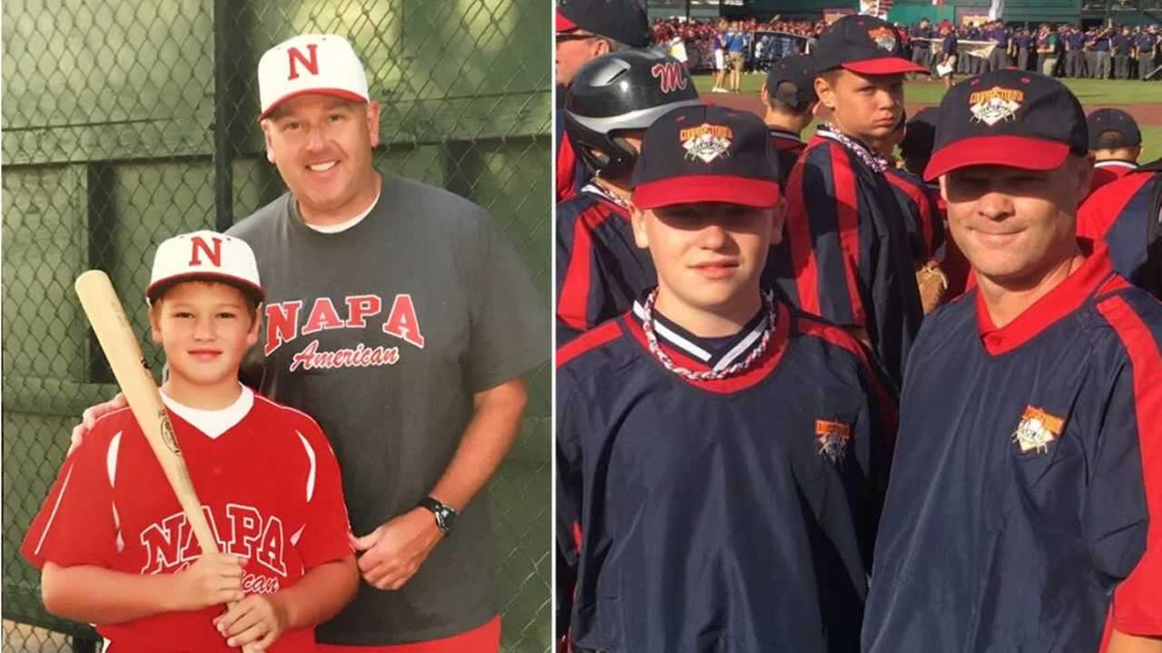 Napa, Calif. residents Daryl and Joseph Horn are pictured on the left and Washington State residents Troy and Baden Biddle are pictured on the right.
