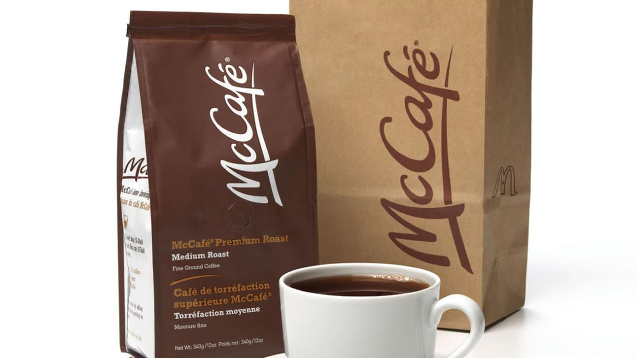 McCafe bags of ground coffee.