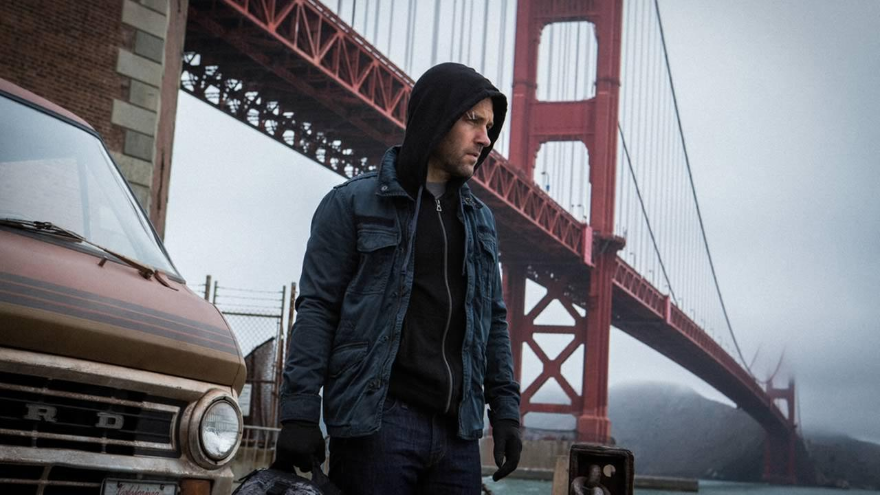 Shot on location in San Francisco, Paul Rudd stars in Marvels Ant-Man.