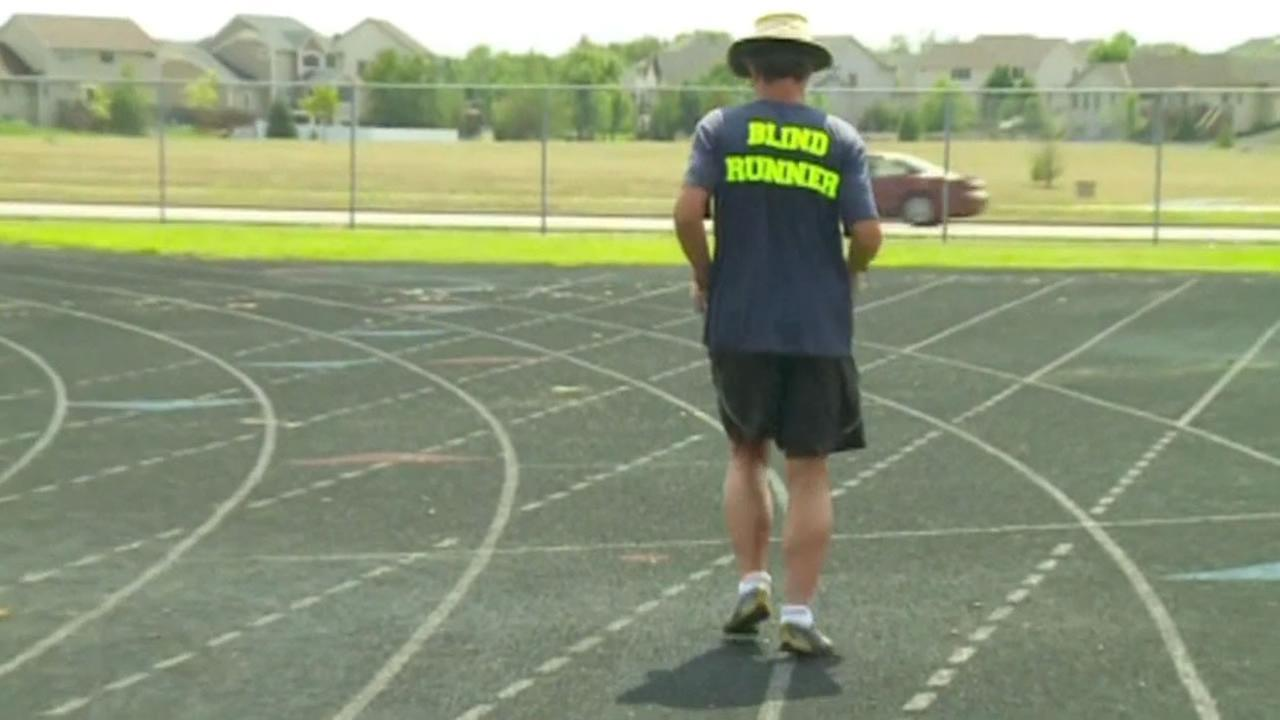 A 62-year-old blind man is 11,000 miles to raise awareness and money to help his granddaughter and others who suffer from cystic fibrosis.