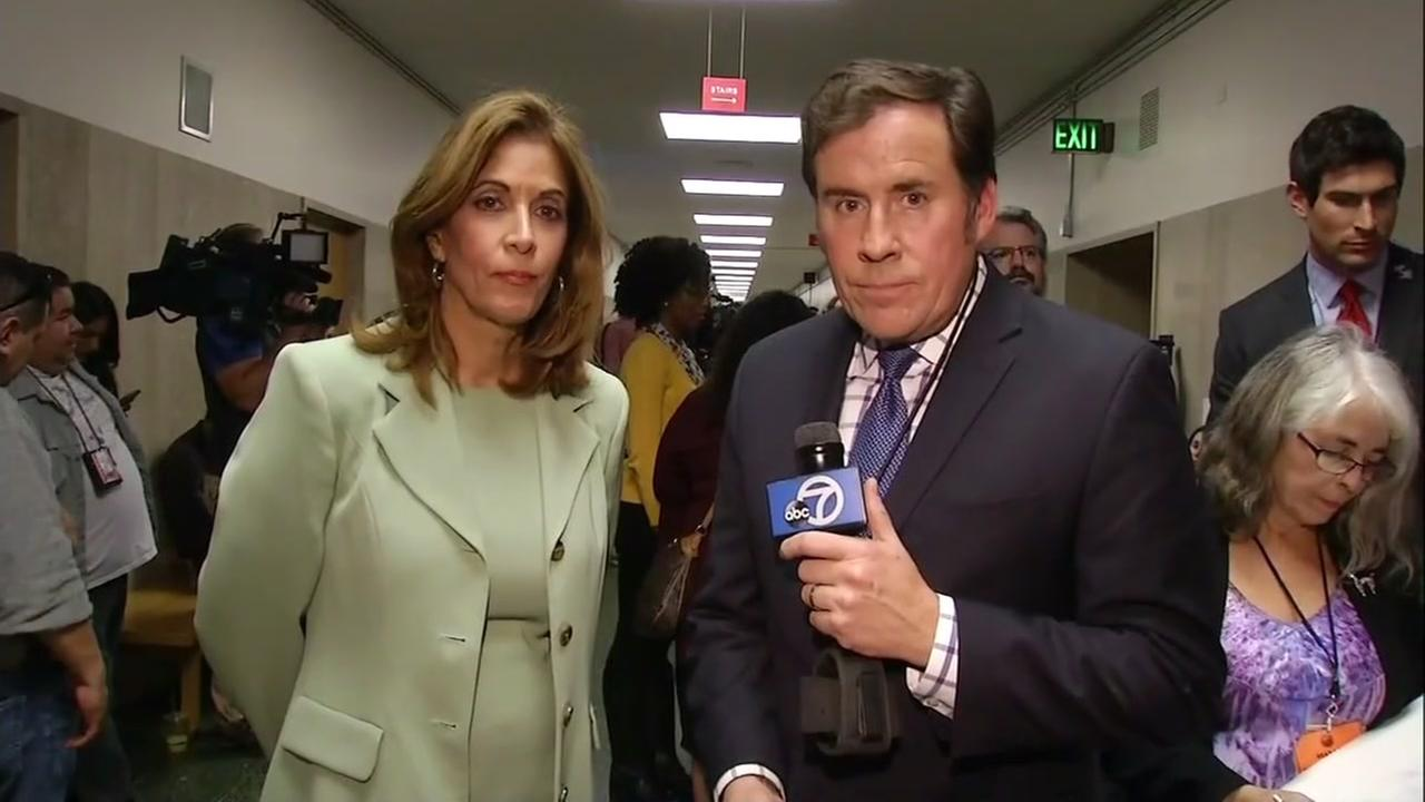 ABC7 News reporters Lyanne Melendez and Cornell Barnard provide coverage from inside the SF courthouse before the verdict in the Kate Steinle trial is read on Friday, Nov. 30, 2017KGO-TV